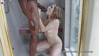 Brazzers xxx: Naked Black Dick in Window Shower