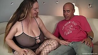 Brazzers xxx: Hawt brunette with big tits rides her fat cock