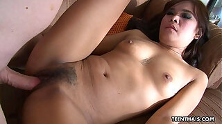 Brazzers xxx: Adorable little Thai chick sucks a nice dick gets banged