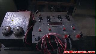 Brazzers xxx: Electro bdsm sub dominated by master