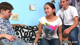 Brazzers xxx: Man assists with hymen physical and drilling of virgin cutie