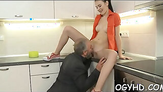 Brazzers xxx: Cute young gal drilled by old dude