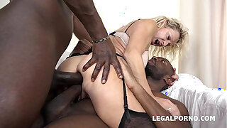 Brazzers xxx: Granny whore Marina Beaulieu fucked like a bitch by Black cocks