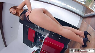 Brazzers xxx: All Internal Euro redhead gets big creampie