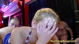 Brazzers xxx: real gangbang with cute young teen