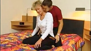 Brazzers xxx: Very Hairy German Mature Blonde Casting Tryout