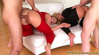 Brazzers xxx: CFNM babe Ivana Sugar in anal foursome