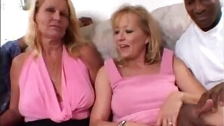Brazzers xxx: Blonde Moms share a Big Black Cock together in Amateur Wife Threesome Video