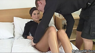 Brazzers xxx: His injured gf cheating with another guy