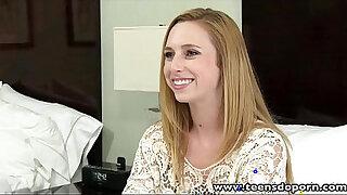 Brazzers xxx: TeensDoPorn Petite teen first porn casting interview
