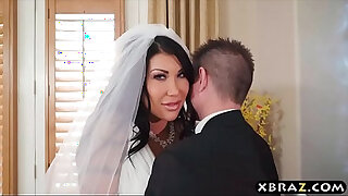 Brazzers xxx: Huge natural tits bride cheats on her wedding day with the best man