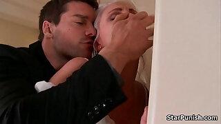Brazzers xxx: Blonde gets butt fucked hardcore on her wedding night