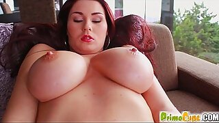 Brazzers xxx: Primecups Big tits giving sex toy titty fucking