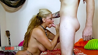 Brazzers xxx: Granny gets assfucked by a young dude