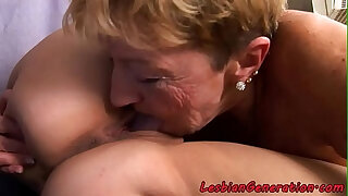 Brazzers xxx: Busty babe gets oral pleasured by mature lady