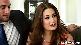 Brazzers xxx: Swinger whore Frankie assists Brashear in a couple broked
