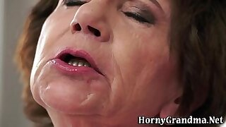 Brazzers xxx: Interracial Handjobs For Granny