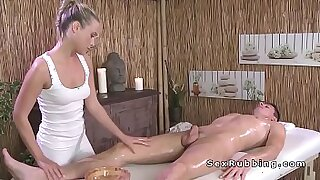 Brazzers xxx: Blonde gives a head and a thai massage
