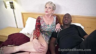 Brazzers xxx: Mature grandma sucks huge black man cock